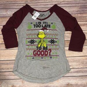 Tops - NWT Jrs Grinch Shirt